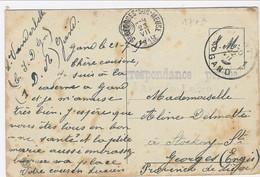 Zichtkaart Gent Met CORRESPONDANCE PRIVEE ARMEE BELGE Van C.I.D.Gn Te Gent - Sonstige Briefe U. Dokumente
