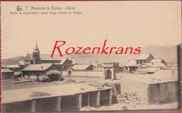 Eglise Church Siang Houo Ti Village Tchagar Rare Old Missionary Postcard China Chine Missie Van Mission De Scheut CPA - China