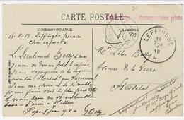 Zichtkaart Malo-les-Bains Met CORRESPONDANCE PRIVEE ARMEE BELGE Van LEFFINGHE Naar STAVELOT (noodstempel) - Sonstige Briefe U. Dokumente