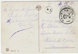Zichtkaart Gent - Rabot Met CORRESPONDANCE PRIVEE ARMEE BELGE Van GENT - Sonstige Briefe U. Dokumente