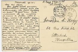 Fantasiekaart Met Handgeschreven GUICHET Van Chenee Naar Brussel - Sonstige Briefe U. Dokumente