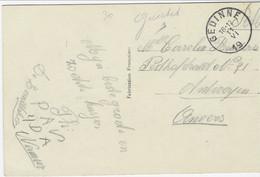 Fantasiekaart Met Handgeschreven GUICHET Van GEDINNE Naar Antwerpen - Sonstige Briefe U. Dokumente
