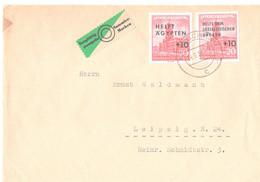 """Brief, 1957, MeF, überdruckt , """"Helft Ägypten Und Helft Dem Sozialistischen Ungarn"""", - Covers & Documents"""