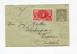 !!! COTE D'IVOIRE, ENTIER POSTAL DE BINGERVILLE POUR L'AUTRICHE DE 1909 - Lettres & Documents
