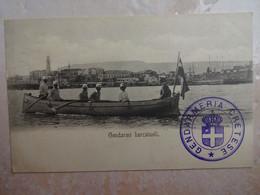 CPA GRECE GREECE CRETE LA CANEE CHANIA CANEA Gendarmi Barcaiuoli Cachet Gendarmeria Cretese - Greece