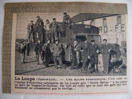 L' équipe SNCF De La Loupe Eure Et Loir  En Gare De Nogent Le Rotrou 1950 Cheminot Chemin De Fer - Historical Documents