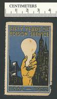 119-87 USA 1932 Fifty Years Of Edison Service Light Bulb Used Tear - Erinnofilia