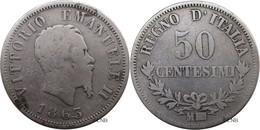 Italie - Royaume - Victor-Emmanuel II - 50 Centesimi 1863 M Milan - TB/VF20 - Mon4012 - 1861-1878 : Vittoro Emanuele II