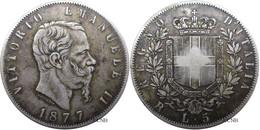 Italie - Royaume - Victor-Emmanuel II - 5 Lire 1877 R Rome - TB/VF30 - Mon4017 - 1861-1878 : Vittoro Emanuele II