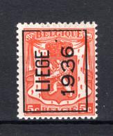 PRE311A MNH** 1936 - LIEGE 1936 - Tipo 1936-51 (Sigillo Piccolo)