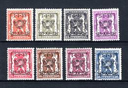 PRE420/427 MNH 1939 - Klein Staatswapen Opdruk Type D - REEKS 16 - Typografisch 1936-51 (Klein Staatswapen)