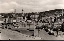 !  Ansichtskarte Gera , Platz Der Repubilk, Straßenbahn, Tram, Bus - Gera