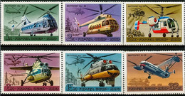 1980Russia USSR4956-4961Helicopters2,20 € - Helikopters