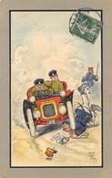 CPA CHARLES LANE VICARY AUTOMOBILE RENVERSANT UN POLICIER - 1900-1949
