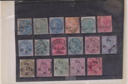 GRANDE BRETAGNE- INDE-LOT TP-SERVICE-OB- Entre Les N° 1 & 53-Majorité B à TB  1866 - 1858-79 Compagnie Des Indes & Gouvernement De La Reine
