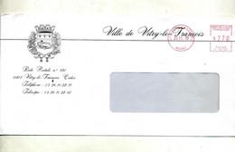 Lettre Machine Vitry Entete Mairie Vitry - Mechanical Postmarks (Other)