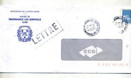 Lettre  Cachet Thonnance Entete Mairie - Manual Postmarks