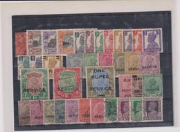 GRANDE BRETAGNE- INDE-LOT TP & SERVICE -majorité B à TB  1935 - 1911-35 Roi Georges V