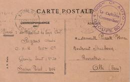Cachet 805 è Cie Auto Groupe 20 SP 306  Sur Carte Postale Epinal Vosges 17/10/1939 à Albi Tarn - WW II