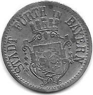 *notgeld Furth Baeyern  10 Pfennig 1917 Zn     145.1a - Other
