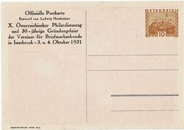 "1931, Privat GA , Signiert "" Ludwig Hesshaimer "", A4956 - Postwaardestukken"