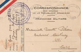 Cachet 1 Régiment Artillerie Métropolitaine Du Levant Carte Franchise Des Armées CHAMBERY Savoie 20/9/1941 à Albi Tarn - WW II