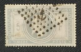 Timbre Collection N° Yvert 33 Oblitération Ancre Léger Pli Horizontal Petite Tâche Au Verso Sinon TB - 1863-1870 Napoleon III Gelauwerd