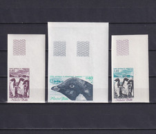 FRENCH ANTARCTIC TERRITORY TAAF 1980, Mi# 149-151, Imperf, Birds, Penguins, MNH - Ungebraucht
