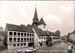 !  S/w Ansichtskarte Marktredwitz, Sparkasse, Rathaus, Autos, Borgward - Voitures De Tourisme