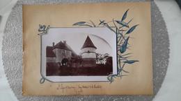 PHOTO ANCIENNE ENCASTREE DANS PAGE D'ALBUM - SAINT LEGER SOUS BEUVRAY 71 SAONE ET LOIRE - CHATEAU - Places