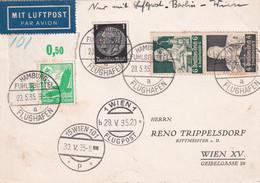 ALLEMAGNE 1935 PLI AERIEN DE HAMBURG - Briefe U. Dokumente