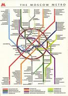 Plan Du METRO De MOSCOU  RV - Metro