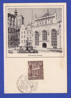 Dt. Reich WHW 1940 Danzig Artushof Maximumkarte Mit So.-O BORNA 30.3.41 - Zonder Classificatie