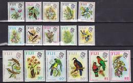 FIJI 1971, Mi# 276-291, CV €60, Flowers, Birds, MNH - Fiji (1970-...)