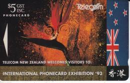 TARJETA DE NUEVA ZELANDA DE UNA FLOR (FLOWER) INTL. PHONECARD EXHIBITION 93 - Korea, South
