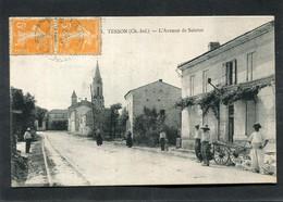 CPA - TESSON - L'Avenue De Saintes, Animé - Other Municipalities