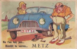 Ne T'en Fais Pas... Bientôt Tu Verras... Metz - Carte à Système 10 Vues Dépliables - CAD - Metz