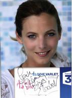 Autographe ELODIE VARLET  Estelle Plus Belle La Vie France 3 RV - TV Series