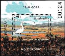 Europa Cept - 2021 - Montenegro - 1.Mini S/Sheet - (Wildlife) ** MNH - 2020