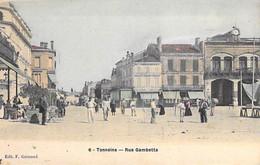 47 - TONNEINS :  Rue Gambetta - Jolie CPA Colorisée - Lot Et Garonne - Tonneins