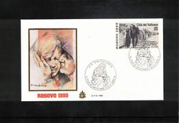 Vatican / Vatikan 1999 Kosovo FDC - FDC