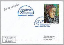 30 - TAAF 940 PAUL EMILE VICTOR Du 5.11.2020 Sur Pli TERRE ADELIE Premier Jour - FDC - - Covers & Documents