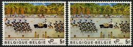 België 1994 + 1994a - Jeugdfilatelie - Bruinachtige Achtergrond + Groenachtige Achtergrond - Ongebruikt