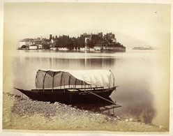 Albumen Photo - Lago Maggiore ITALY (25 X 20cm) - Anciennes (Av. 1900)