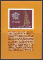 JUGOSLAWIEN  Block 19, Postfrisch **, 40. Jahrestag Des Aufstandes Gegen Die Besatzungsmächte, 1981 - Blokken & Velletjes