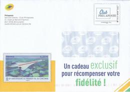 PAP FRANCE CONCORDE PRET A POSTER ENTIER POSTAL STATIONERY GANZSACHE CLUB PHILAPOSTE VALIDITE MONDE AGREMENT 309874 - Concorde