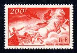 FRANCE 1946 - Yvert PA 19a - NEUF** LUXE/MNH - Rouge-sang Papier Carton épais, TBC - 1927-1959 Postfris