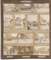 BOURBOURG NORD 13 Photos Sur Une Page Cartonnée  Prises Par Mr DEZOTEUX: Chars Des Sociétés Des Festivités,Gambrinus - Luoghi