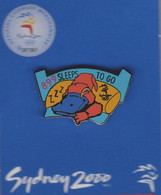 Pin's Jeux Olympiques SYDNEY 2000  899 Sleep To Go. - Jeux Olympiques