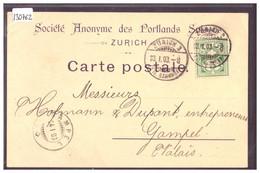 ZÜRICH - SOCIETE ANONYME DES CIMENTS PORTLAND - B ( PLI D'ANGLE ) - ZH Zurich